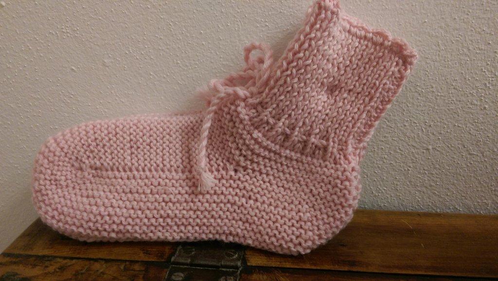 Babbucce da notte in Lana Borgosesia rosa