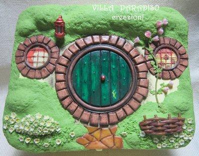 scatola in legno Casa di Hobbit
