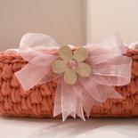 Cestino porta lavette rosa antico