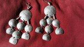 Orecchini pendenti in alluminio