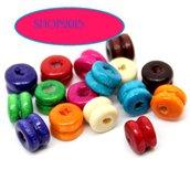 25 Perle perline Forma di Dumbbel in Legno 6x5mm