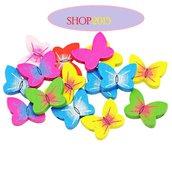 5 mix Perle  distanziatori   Farfalla  ,  Farfalle colorate 2x1,5 c,  cm in Legno
