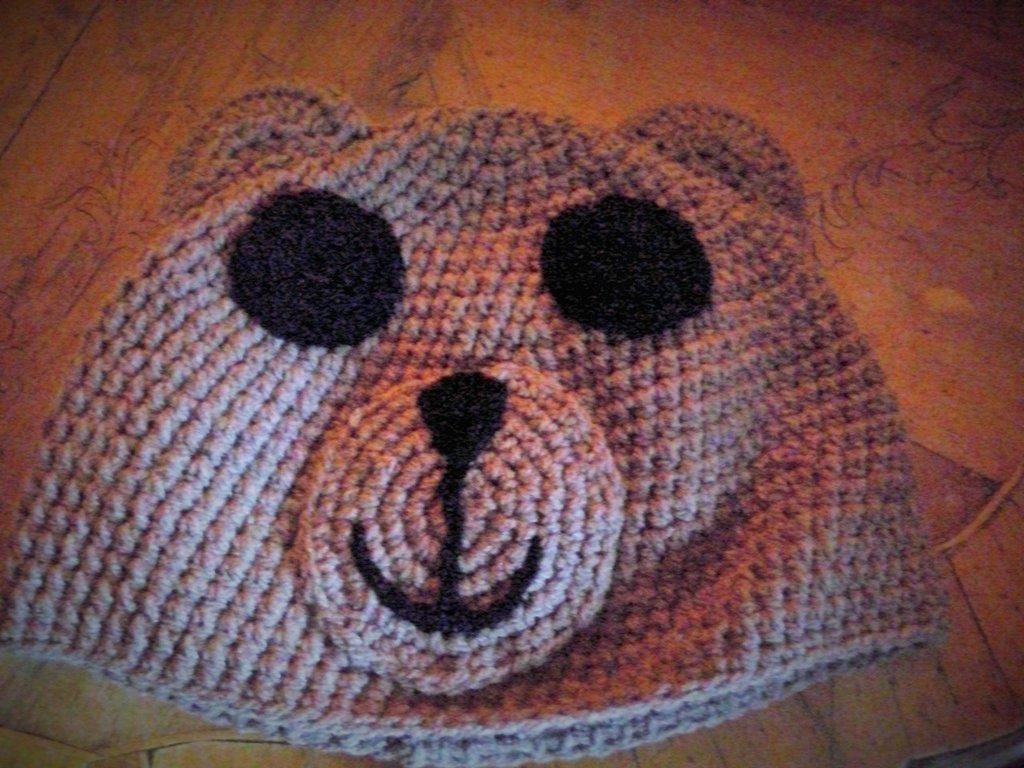 Cappello a forma di orso