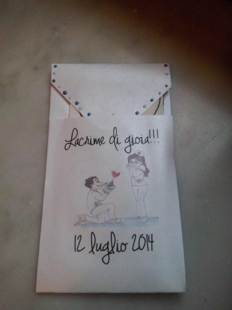 Porta fazzoletti per matrimonio