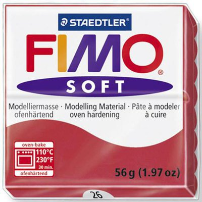 Panetto Fimo Soft 56 gr. - n. 26 ciliegia
