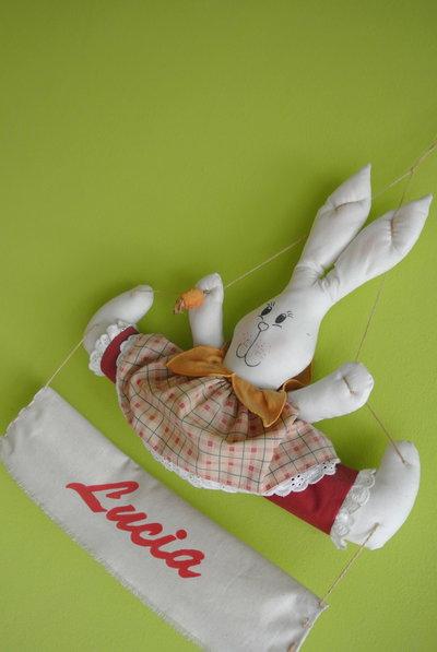 Fiocco nascita dolce coniglietta