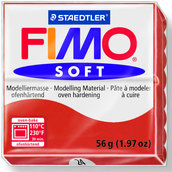 Panetto Fimo Soft 56 gr. - n. 24 rosso indiano