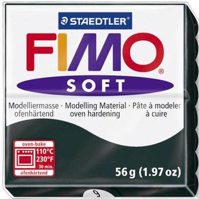 Panetto Fimo Soft 56 gr. - n. 9 nero