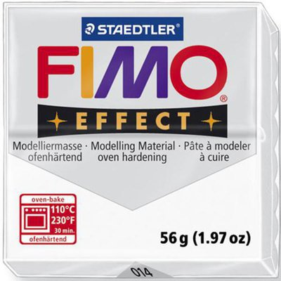 Panetto Fimo Effect 56 gr. - n. 014 bianco trasparente