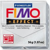 Panetto Fimo Effect 56 gr. - n. 81 argento metallico