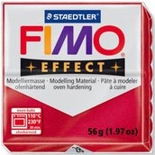 Panetto Fimo Effect 56 gr. - n. 28 rosso rubino metallico
