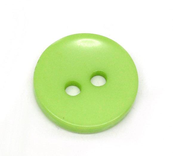 Set 10 bottoni 15 mm - Verde