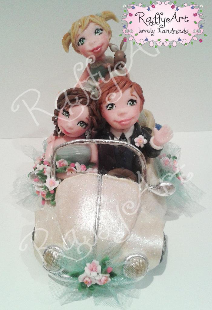 """Cake topper matrimonio """"Beatlelove - mod. 1"""" (personalizzabile)"""