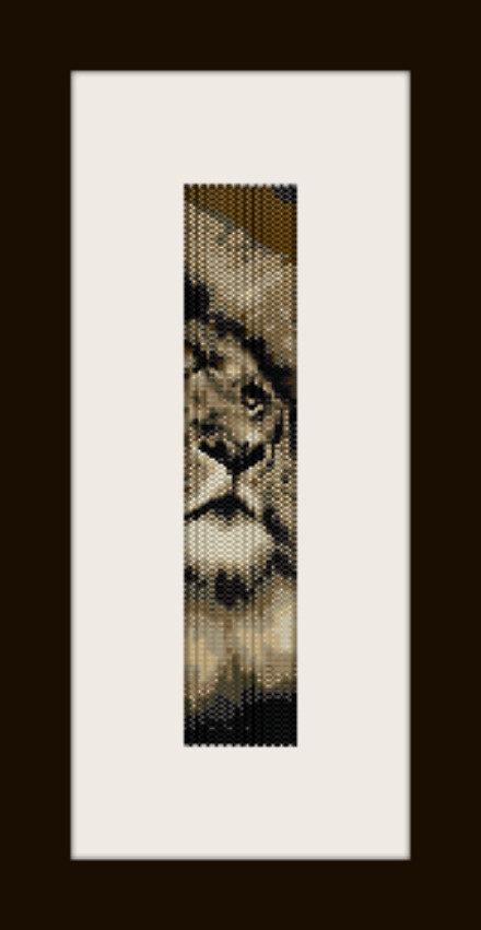 PDF schema bracciale Leone in stitch peyote pattern - solo per uso personale