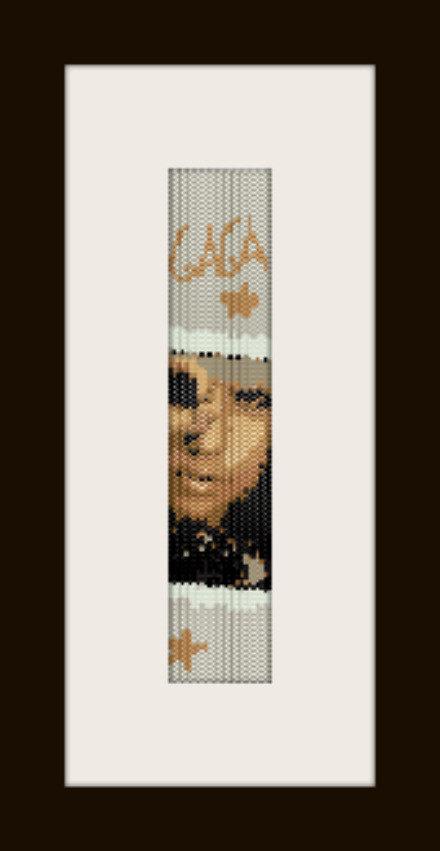 PDF schema bracciale Lady Gaga in stitch peyote pattern - solo per uso personale
