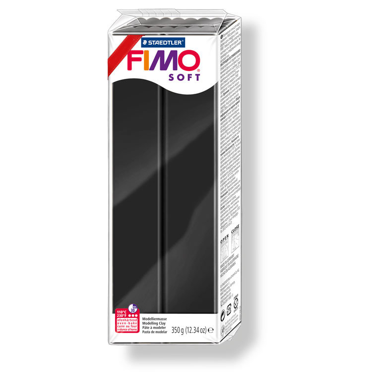 Fimo Soft 350 gr. - n. 9 nero