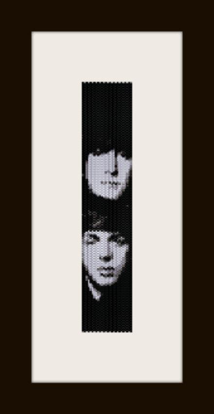 PDF schema bracciale Beatles in stitch peyote pattern - solo per uso personale