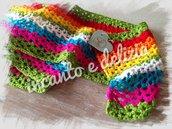 Sciarpa multicolor onde, misto lana