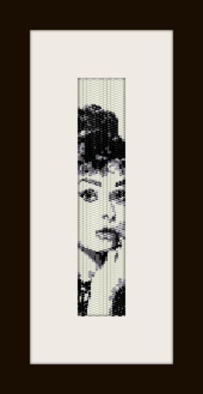 PDF schema bracciale Audrey 6 in stitch peyote pattern - solo per uso personale