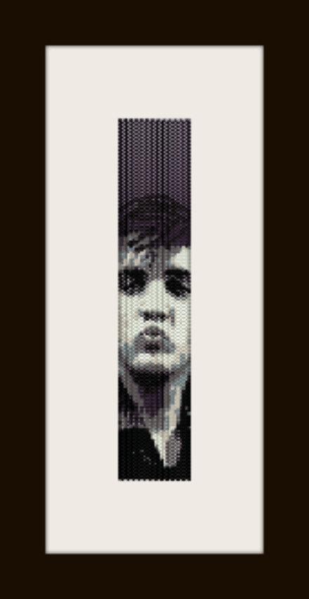PDF schema bracciale Elvis 1 in stitch peyote pattern - solo per uso personale