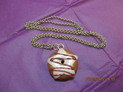 COLLANA LUNGA IN FIMO BIG DONUT