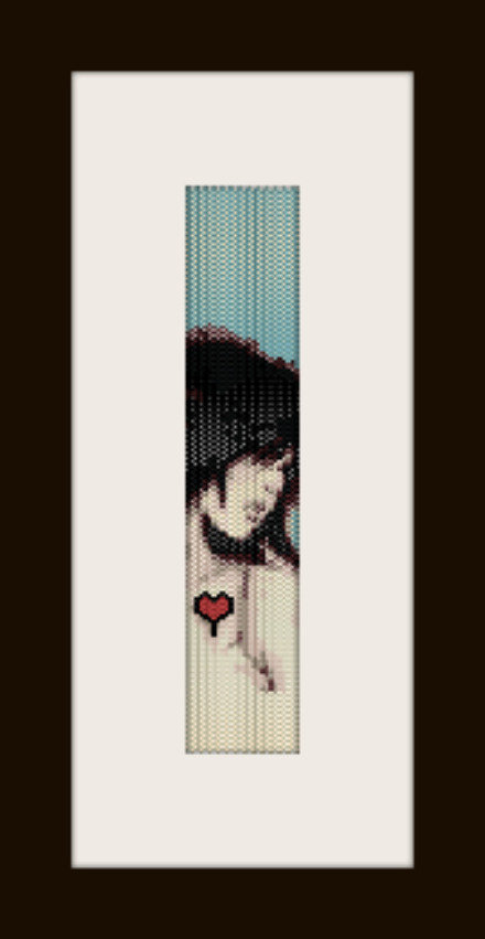 PDF schema bracciale Love Girl in stitch peyote pattern - solo per uso personale