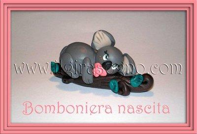 Bomboniera/segnaposto nascita baby koala