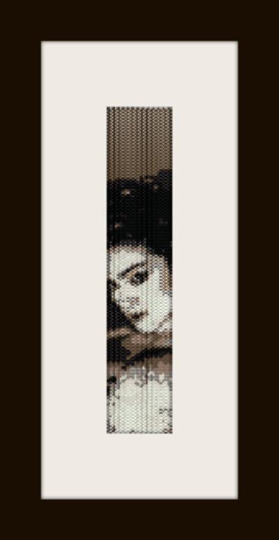 PDF schema bracciale Madonna in stitch peyote pattern - solo per uso personale