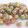 Lotto 10 pz ciondoli charms cupcakes in Fimo col. misti