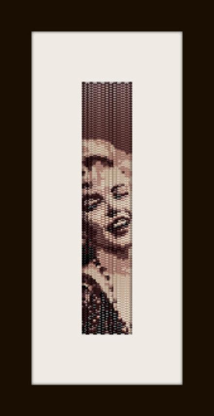 PDF schema bracciale Marilyn 4 in stitch peyote pattern - solo per uso personale