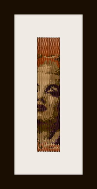PDF schema bracciale Marilyn 7 in stitch peyote pattern - solo per uso personale