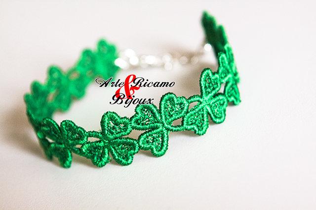 ST.PATRICK DAY bracelet by Arte Ricamo & Bijoux