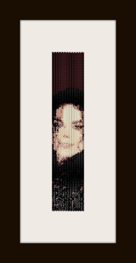 PDF schema bracciale Michael Jackson 2 in stitch peyote pattern - solo per uso personale