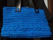 borsa Alessandra in fettuccia lycra azzurra