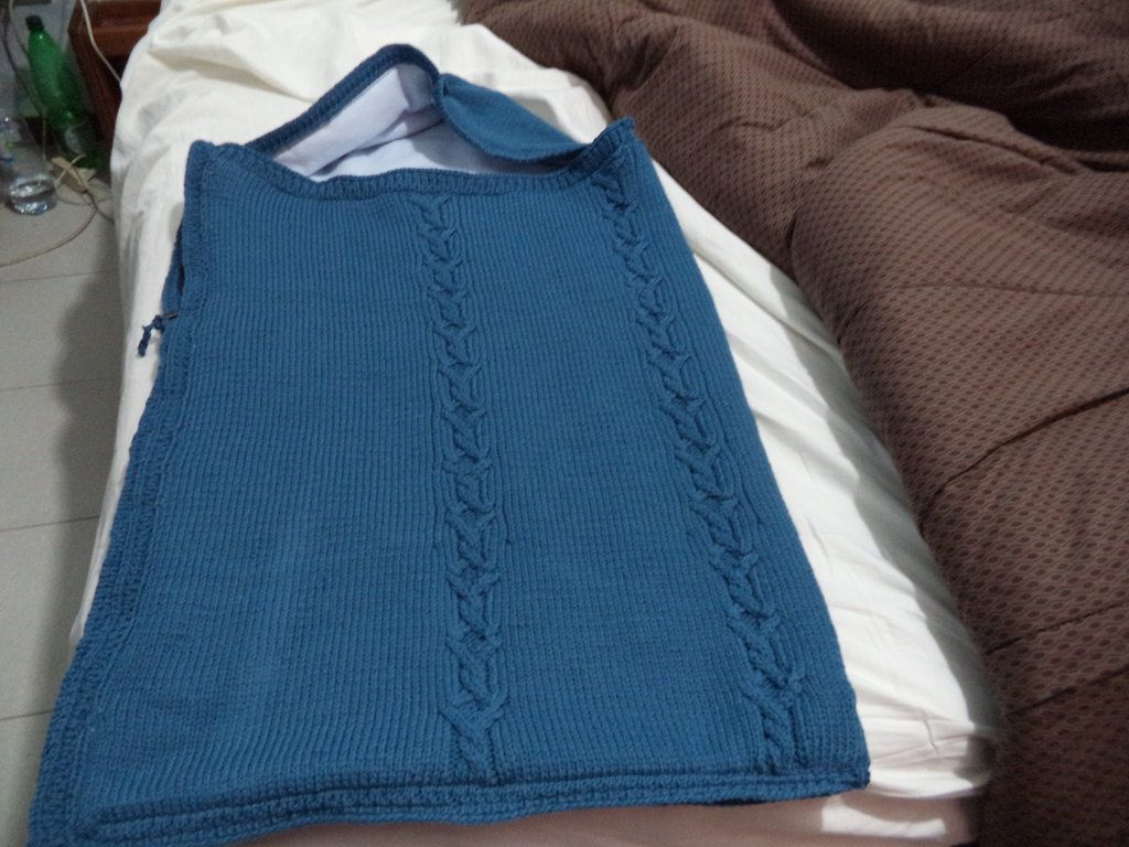 Sacconanna neonato in lana e imbottito