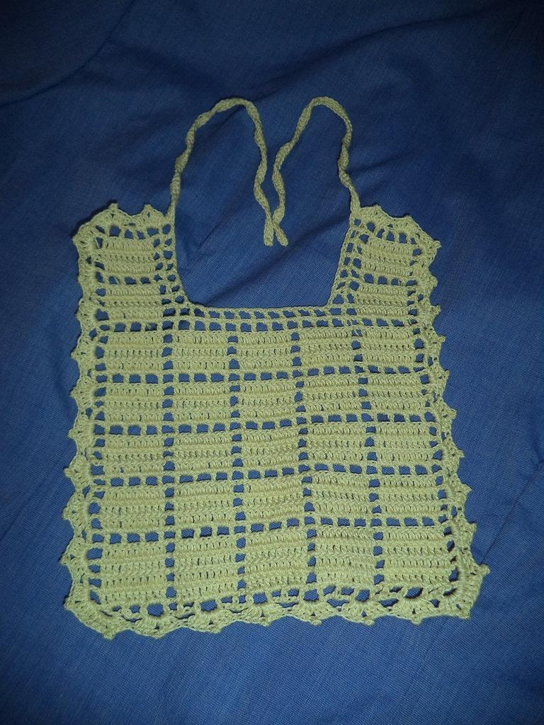 bavaglini per neonati in cotone a uncinetto