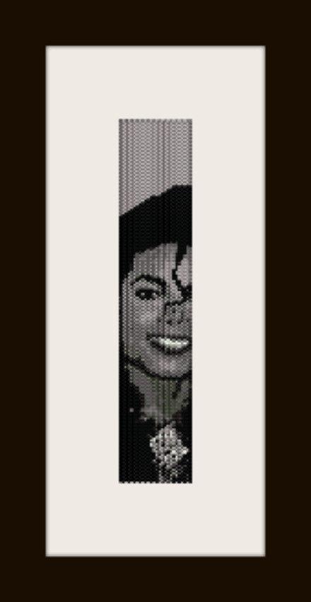 PDF schema bracciale Michael Jackson 4 in stitch peyote pattern - solo per uso personale