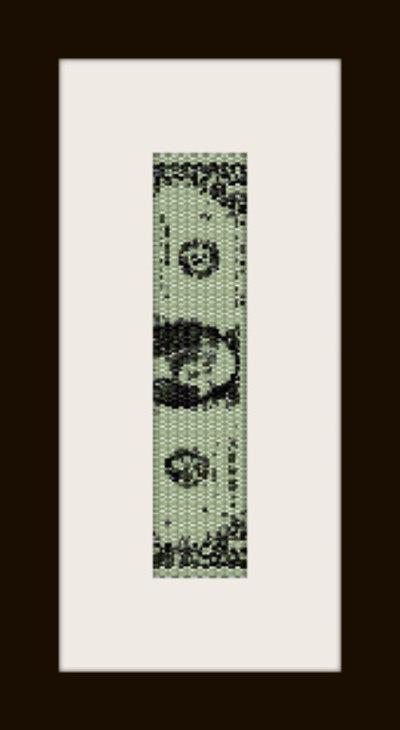 PDF schema bracciale One Dollar in stitch peyote pattern - solo per uso personale