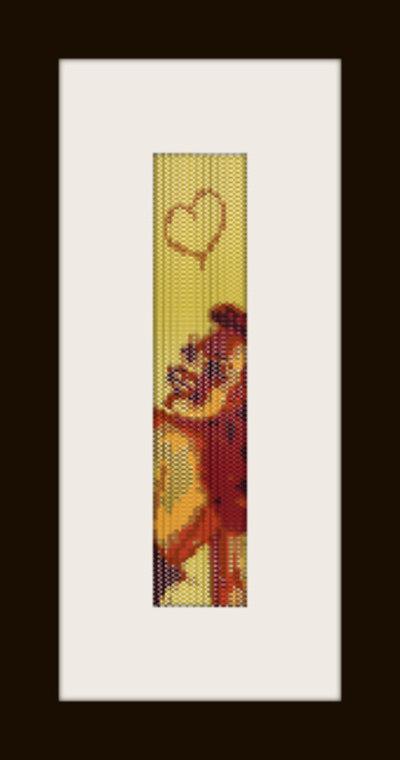 PDF schema bracciale Pin Up 2 in stitch peyote pattern - solo per uso personale