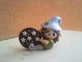 Portachiavi Follettina con biscotto pan di stelle