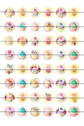 Cupcake colorati 25 mm