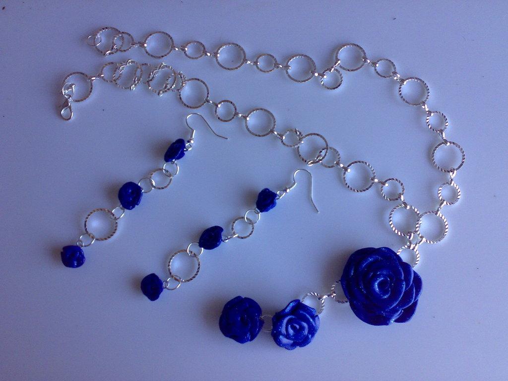 Completo rosa blu