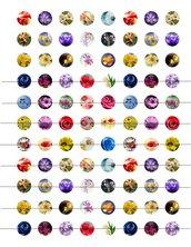 Fiori colorati 16 mm