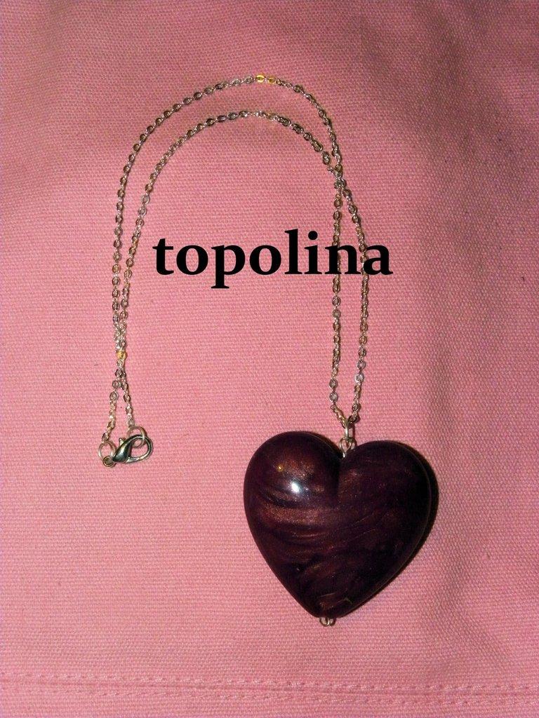 collana cuore viola bijoux