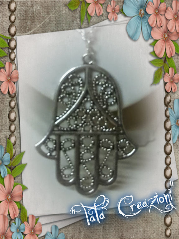 Collana mano di fatima in sterling