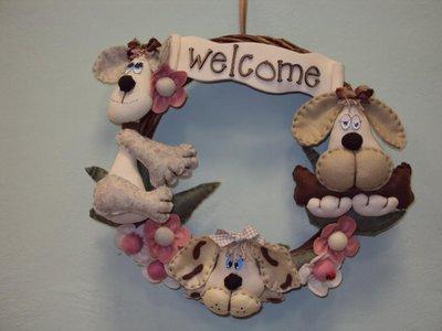 """GHIRLANDA """"WELCOME"""" CON CAGNOLINI"""