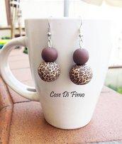 Orecchini perle leopardate