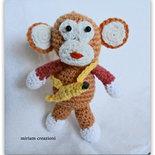 Scimmietta Amigurumi con banana
