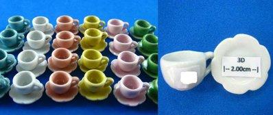 Miniatura tazzina e piattino in ceramica