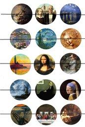 Quadri famosi artisti vari 25 mm